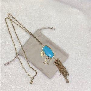 Long Rayne Gold Turquoise Kendra Scott Necklace